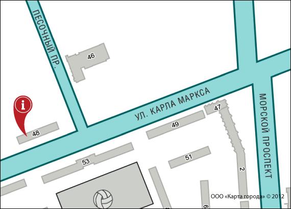 Карта проезда — Муниципальное автономное учреждение «Северодвинское агентство культуры и социальной рекламы»